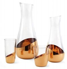 Glassware dipped in gold from the Swedish studio Front.