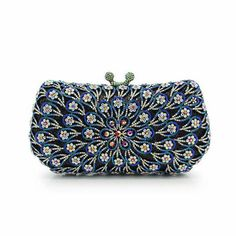 Multicolor crystal evening bag, Clutch Bag for party, wedding, dinner or prom, Wedding brides clutch bag, Indian clutch bag, handbag
