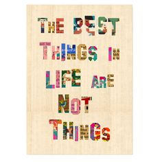 The Best Things Canvas Print