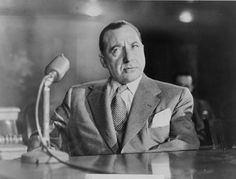 "Senate Committee led by Sen. Estes Kefauver of Tennessee concludes that a ""sinister criminal organization"" known as the Mafia operates in the U. Pictured: Mob boss Frank Costello testifies before the Kefauver Committee on organized crime. Italian Gangster, Real Gangster, Mafia Gangster, Chicago Bulls, San Antonio, Montana, Cuba, Billy The Kid, Frank Costello"