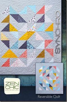 Synchro modern quilt pattern Zen Chic, www.brigitteheitland.de