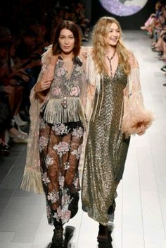 Gigi and Bella Hadid in Anna Sui