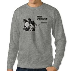 101Dog Born To Run-Bruce Springsteen Mens Crew Sweatshirt XXX-Large Ash ** Check out the image by visiting the link.
