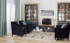 Klasika s nádychom modernosti    #inspiracia#interier#obyvacka#velvet Bold Colors, Office Desk, Corner Desk, Ikea, Sweet Home, Furniture, Home Decor, Living Room, Old Wood