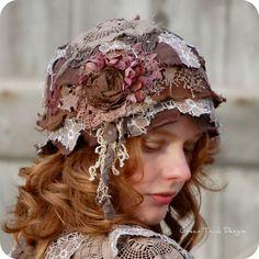 Sombrero Cloche de jirones ninfa del bosque por GreenTrunkDesigns