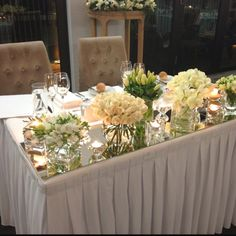 Lovely bridal table