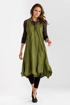 Isabel Dress: Cynthia Ashby: Linen Dress - Artful Home Tunic Tops For Leggings, Boho Fashion, Curvy Fashion, Blouse, Style Me, Dress Up, Style Inspiration, Clothes For Women, Stylish