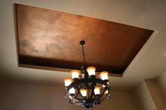 Gorgeous weathered Copper patina ceiling