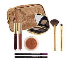 FYI GF's!~ Only 61.00$ @ qvc.com~ Only Place I buy My Cosmectics!~~WANT~~  ~ Im A COSMECTIC ADDICT~ if U cant tell!~~ Not In RETAIL! bareMinerals bareLuxury Rush of Excitement 8-pc Collection <3