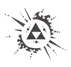 Zelda Triforce Tattoo   Zelda symbol by ~electrichead11 on deviantART