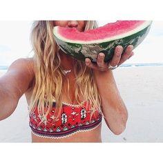 #summer #beach #watermelon