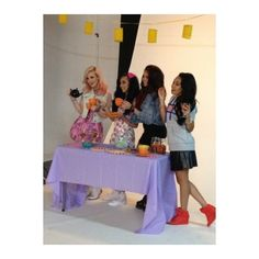 7 Cutest Moments from Our Little Mix shoot! ❤ liked on Polyvore