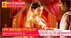 Love Marriage specialist astrologer in india solve all types of love marriage or intercaste marriage problems solve by his  higher study in astrology and numerology.