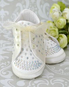 10bc9f34a8846 Baby Bling Ivory Christening   Special Occasion Shoes