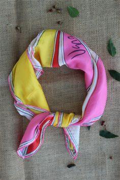 1970s Vintage Vera Silk Scarf