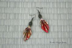 Origami Jewelry  Origami Leaf Earrings with by KumikosOrigami