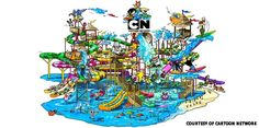 World's first cartoon network water park to open in Thailand.