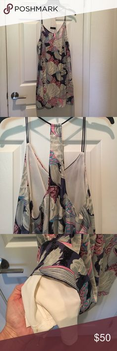 Dress by ANGL Very pretty summer/spring Dress light flowey. Pink blue and gray floral ANGL Dresses Mini