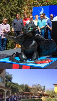 "Toothless cake at the ""How to Train Your Dragon"" premier"
