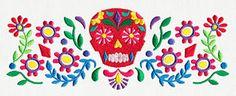 Folklorico - Calavera Border design (UT8397) from UrbanThreads.com