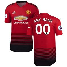 e5c55653f Men s Manchester United 2018-2019 Home Custom Jersey – Red