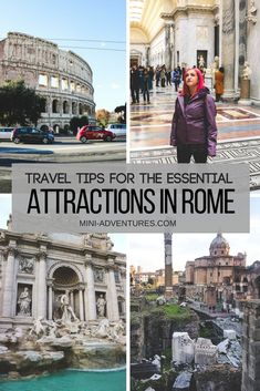 Rome is packed with amazing attractions and architecture, but if you have limited time, these are the five attractions in Rome you have to visit - and how to avoid the crowds and pay less for them. Featuring The Colosseum, Roman Forum, Trevi Fountain, Vatican City Museums and The Parthenon | Travel in Italy | Essential sights to see in Rome, Italy | First time visit to Rome | Rome on a budget | Rome city guide | Italy travel guide #europe #rome #italy #travelblog