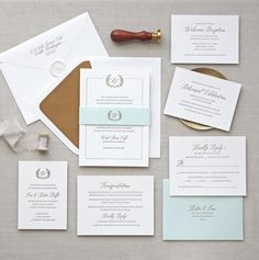 Letterpress wedding invitations // Jardin design // CHATHAM & CARON letterpress studio