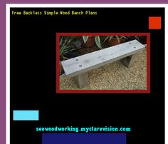 Free Backless Simple Wood Bench Plans 075918 - Woodworking Plans and Projects!