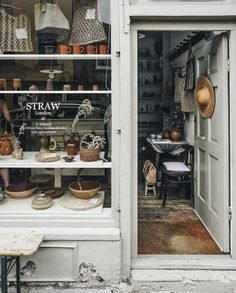 Straw London I want to step inside and buy everything . Antique Shops, Vintage Shops, The Company Store, Vintage Baskets, Lifestyle Shop, Shop Fronts, Shop Around, Shop Interiors, Step Inside