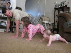 Familia en forma.Cundiendo el ejemplo.