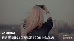 En este artículo voy a profundizar en las estrategias de #Marketing o Mercadotecnia mediante una de las aplicaciones más populares en la actualidad: #Instagram.  https://www.jluislopez.es/consejos-estrategia-marketing-instagram/  La plataforma ha presentado un crecimiento exponencial a tan solo siete años de su creación. Genera un promedio de 80 millones de fotos por día y más de 500 millones de usuarios activos al mes. Posee más seguidores que Facebook y Twitter.