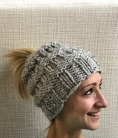 Thank you for looking at my shop! This listing is for a Messy Bun Knitted hat! This hat solves a BIG problem...what to do if you have your hair up in a bun or a ponytail. There is a hole at the top of this hat that allows your hair to stay in a bun or pony all while you stay nice