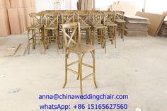 cross back bar chair, SUNZO furniture, www.chinaweddingchair.com