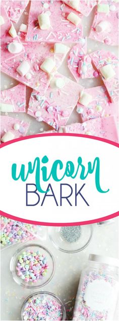 Unicorn Bark- this would be fun to have the kids decorate their own bark (if it's a home party or you have access to a fridge)