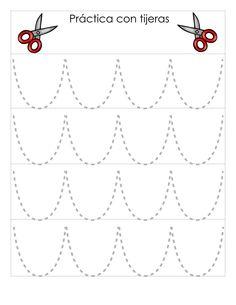 Actividades infantil Conjunto de fichas Práctica con tijeras -Orientacion Andujar Kindergarten Activities, Activities For Kids, Crafts For Kids, Preschool, Scissor Practice, Cutting Practice, Prewriting Skills, Cutting Activities, Art Drawings For Kids