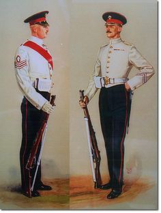 British Empire: British Infantry: The Grenadier Guards, Sergeant and Private Undress