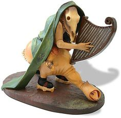 """Monster playing the harp from The Temptation of Saint Anthony"""