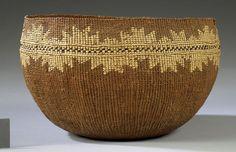 Hupa Twined Basket