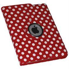 Rød prikket mappe til iPad