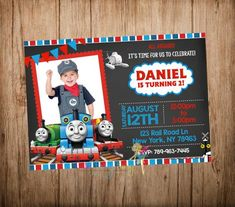 Hey, I found this really awesome Etsy listing at https://www.etsy.com/listing/239864322/thomas-the-train-birthday-invitation