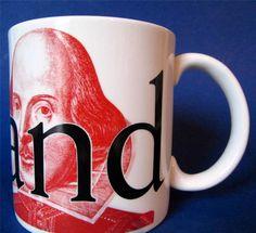 Starbucks England City Mug Cup Shakespeare XLG 20 oz Collector Series 2002  #Starbucks