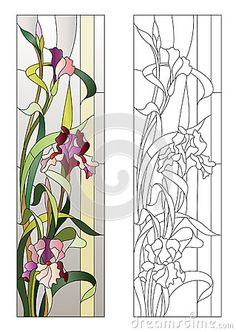 Image result for simple stained glass flower patterns