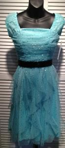 glittered fun.  Modest Homecoming dress 2013 I like the color and sparkles!!!