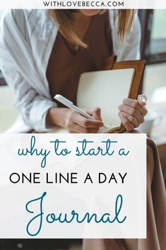 How the one line a day journal has taught me about family, career, and working mom life, and why it's one of my most prized possessions. Learn how starting your own one line a day journal can impact your life in just a few minutes a day.