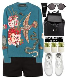 """""""1296"""" by melanie-avni ❤ liked on Polyvore featuring La Perla, Gucci, Vans, Allstate Floral, Barneys New York, Witchery and Illesteva"""