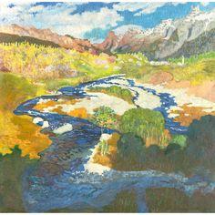 thunderstruck9:  Giovanni Giacomettii (Swiss, 1868-1933), Die Maira bei Stampa [Maira near Stampa], 1904-1905. Tempera on Eternit, 120 x 120 cm.