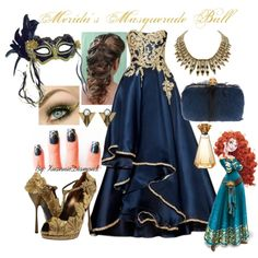 Merida's Masquerade Ball, created by xuanniediamond on Polyvore