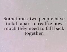 And I'm so Grateful that we Chose to Fall back Together...
