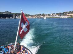 Taking the boat from Lucerne to Vitznau Switzerland Summer, Switzerland Tour, Swiss Travel Pass, Travel Flights, Train Tour, Lucerne, Summer 2016, Boat, Tours