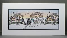 Jayne Nestorenko's Winter Scenes by Claritystamp. Christmas Inspiration, Christmas Ideas, Christmas Crafts, Clarity Card, Barbara Gray, Twas The Night, The Night Before Christmas, Winter Theme, Winter Scenes